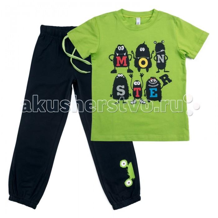 Детская одежда , Комплекты детской одежды Playtoday Комплект для мальчиков (футболка, брюки) Корпорация монстриков 185001 арт: 457656 -  Комплекты детской одежды