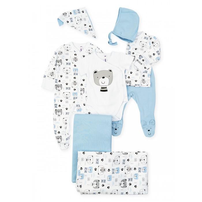 Комплекты детской одежды Playtoday Комплект для мальчиков (комбинезон, ползунки, кофточка, боди, чепчик, пелёнка) Forest camping NB