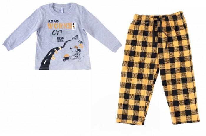 Комплекты детской одежды Playtoday Комплект для мальчиков (лонгслив, брюки) Маленькие строители 187029 лонгслив playtoday playtoday mp002xg00740