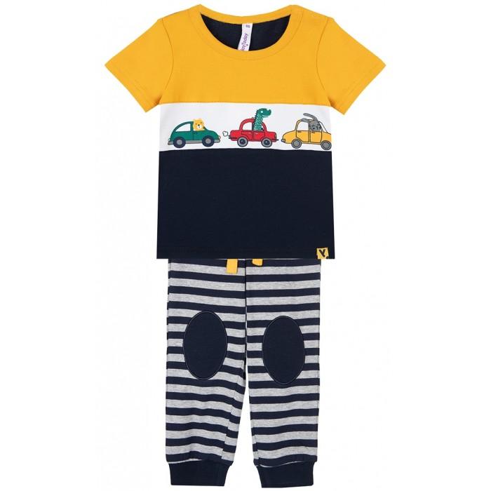 Playtoday Комплект: фуфайка и брюки Car collection baby boys