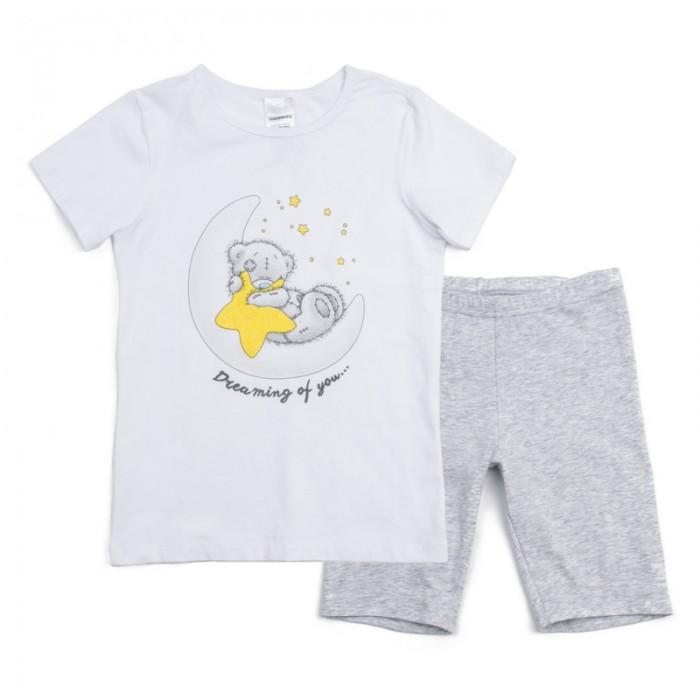 Комплекты детской одежды Playtoday Комплект трикотажный для девочек: фуфайка (футболка), шорты Розовая дымка 686001