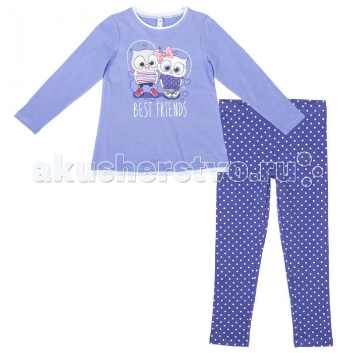 Комплекты детской одежды Playtoday Комплект для девочек (футболка с длинным рукавом, легинсы) Осеннее настроение 372071