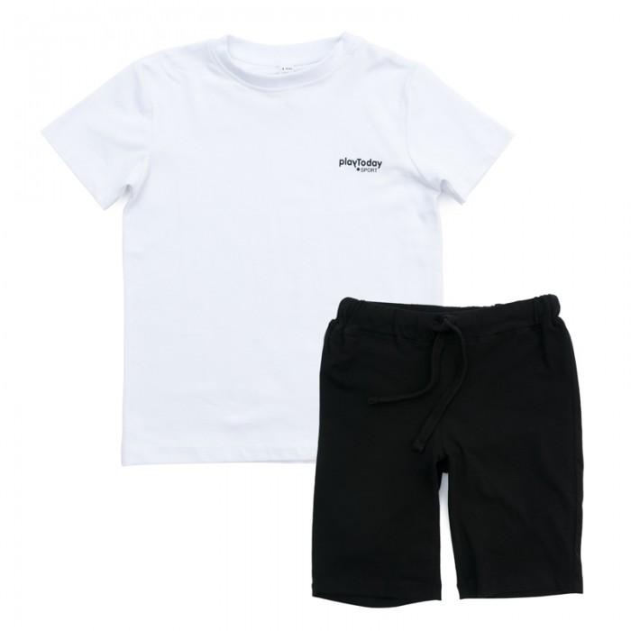Комплекты детской одежды Playtoday Комплект трикотажный для мальчиков (футболка, шорты) Минута славы 370007
