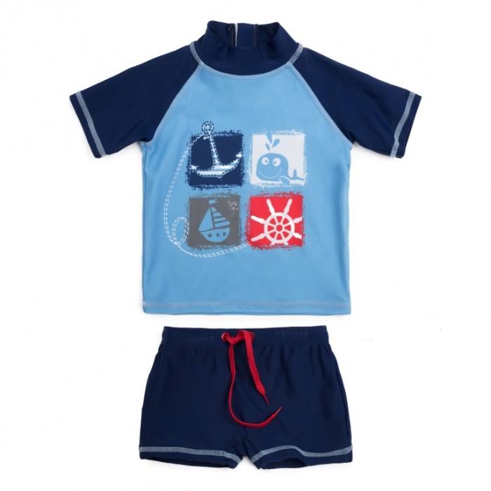 Детская одежда , Купальники и плавки Playtoday Купальный костюм для мальчика футболка, шорты Большое плавание арт: 520811 -  Купальники и плавки
