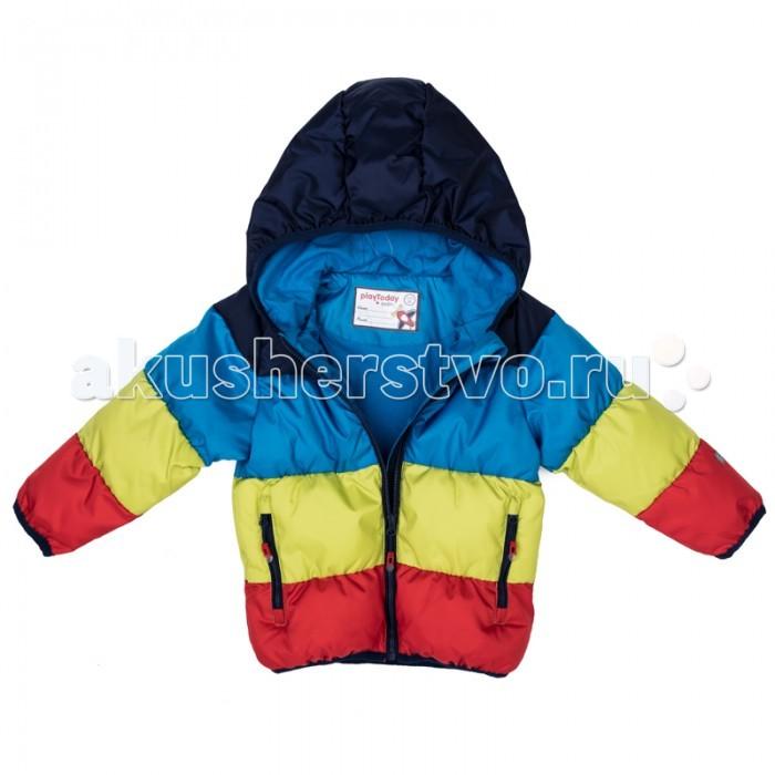Детская одежда , Куртки, пальто, пуховики Playtoday Куртка детская текстильная для мальчиков Веселый алфавит 377004 арт: 367493 -  Куртки, пальто, пуховики