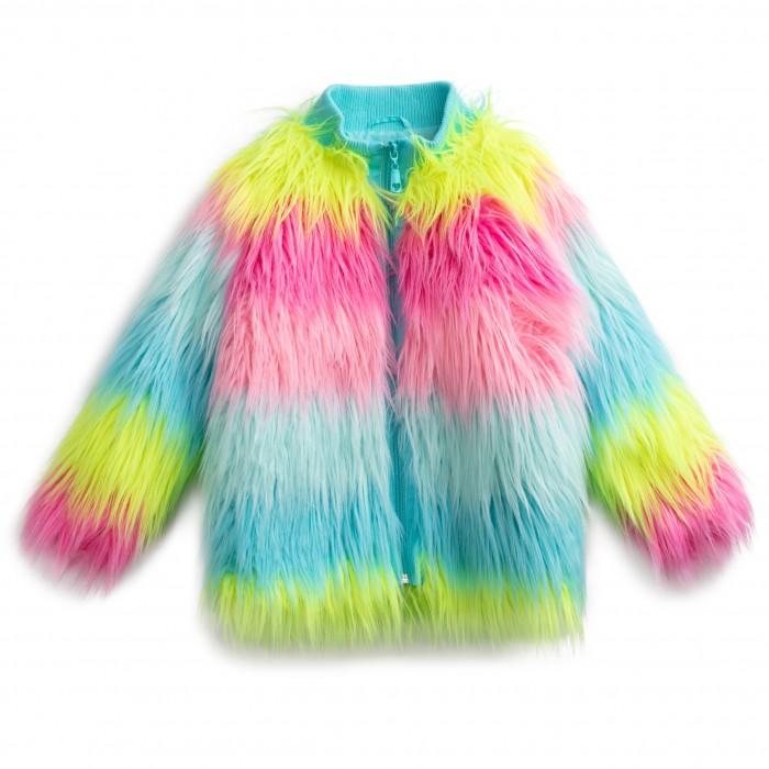 Playtoday Куртка для девочек Краски радуги 194063