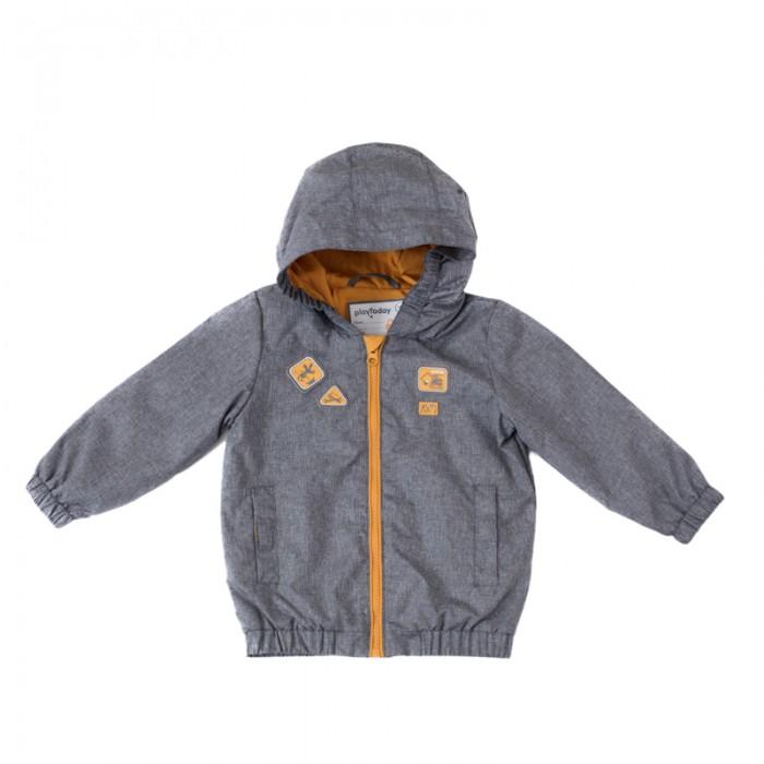 Детская одежда , Куртки, пальто, пуховики Playtoday Куртка для мальчиков Маленькие строители 187007 арт: 451084 -  Куртки, пальто, пуховики