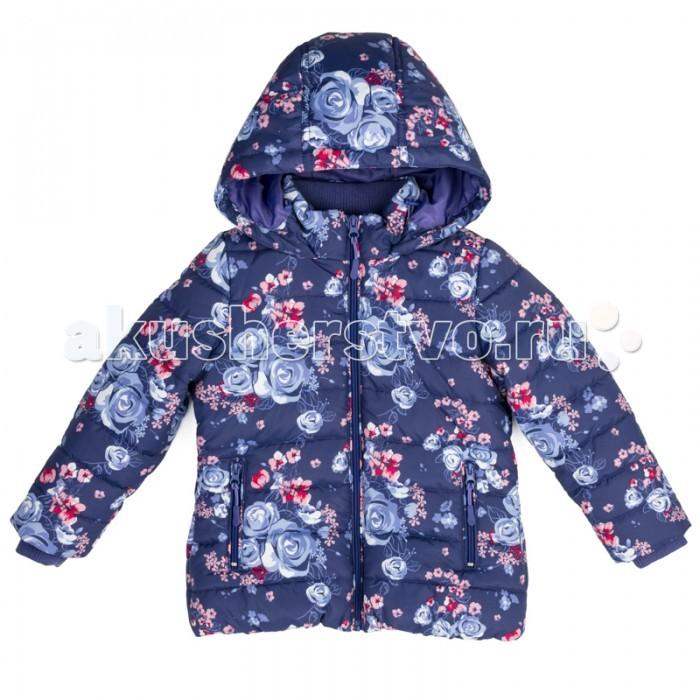 Playtoday Куртка текстильная для девочек Осеннее настроение 372052Куртка текстильная для девочек Осеннее настроение 372052Playtoday Куртка текстильная для девочек Осеннее настроение 372052 с капюшоном из водоотталкивающей ткани - отличное решение для холодной промозглой погоды.   Модель на молнии. Вшивной капюшон на регулируемом шнуре - кулиске. С внутренней стороны для стопперов шнура предусмотрены скрытые карманы. Трикотажные манжеты из плотной резинки сохраняют тепло. Куртка с вшивными карманами на молнии.   Модель из принтованной ткани с цветочным рисунком. Воротник куртки с внутренней стороны дополнен мягкой трикотажной вставкой.<br>