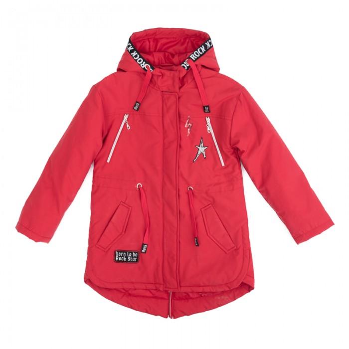 Детская одежда , Куртки, пальто, пуховики Playtoday Куртка текстильная для девочек Рок-принцесса 182001 арт: 451534 -  Куртки, пальто, пуховики