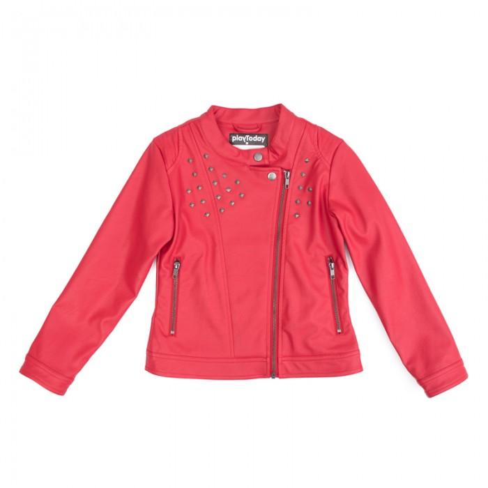 Куртки, пальто, пуховики Playtoday Куртка текстильная для девочек Рок-принцесса 182004 куртки пальто пуховики playtoday куртка текстильная для мальчиков пульс лондона 371001