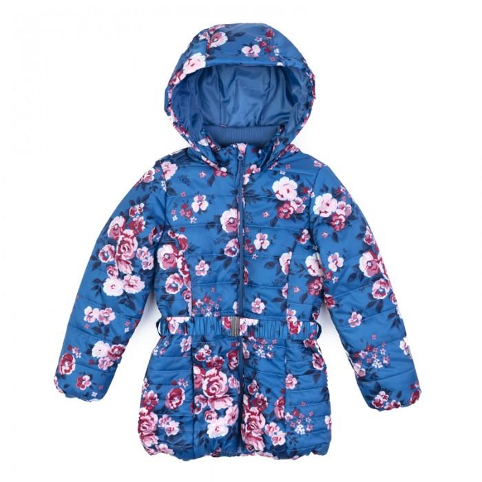 Детская одежда , Куртки, пальто, пуховики Playtoday Куртка текстильная для девочек Утро в Париже 182051 арт: 454464 -  Куртки, пальто, пуховики