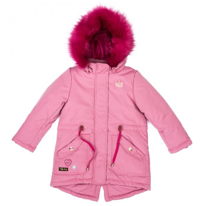 Playtoday Куртка текстильная для девочек Я - принцесса 372001Куртка текстильная для девочек Я - принцесса 372001Playtoday Куртка текстильная для девочек Я - принцесса 372001 –парка из водоотталкивающей ткани.   Капюшон декорирован опушкой из искусственного меха. И капюшон, и опушка на удобных застежках-кнопках. При необходимости их можно легко отстегнуть.   Куртка с заниженной спинкой. На талии предусмотрен регулируемый шнур - кулиска. Внутренняя часть воротника - стойки и манжеты на мягких трикотажных резинках.   Модель дополнена небольшой аппликацией и накладными карманами.<br>
