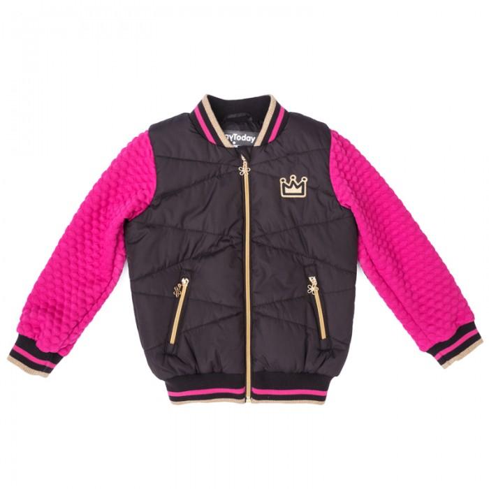 Фото Куртки, пальто, пуховики Playtoday Куртка текстильная для девочек Я - принцесса 372004