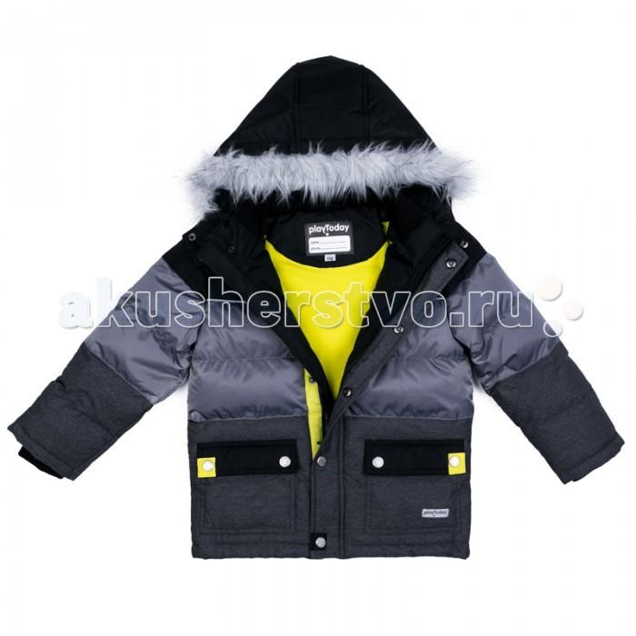 Детская одежда , Куртки, пальто, пуховики Playtoday Куртка текстильная для мальчиков Арктика 371101 арт: 365587 -  Куртки, пальто, пуховики
