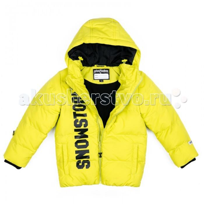 Playtoday Куртка текстильная для мальчиков Арктика 371102Куртка текстильная для мальчиков Арктика 371102Playtoday Куртка текстильная для мальчиков Арктика на молнии выполнена из плотной водонепроницаемой ткани. Специальный карман для бегунка не позводит застежке травмировать нежную кожу ребенка.   Вшивной капюшон дополнен регулируемым шнуром - кулиской. Манжеты иделия на мягких трикотажных резинках. Модель с вшивными карманами. В качестве декора использован контрастный принт.<br>