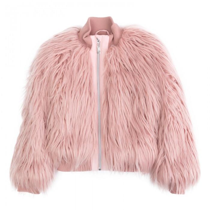 цена Куртки, пальто, пуховики Playtoday Куртка трикотажная для девочек Рок-принцесса 182006 онлайн в 2017 году