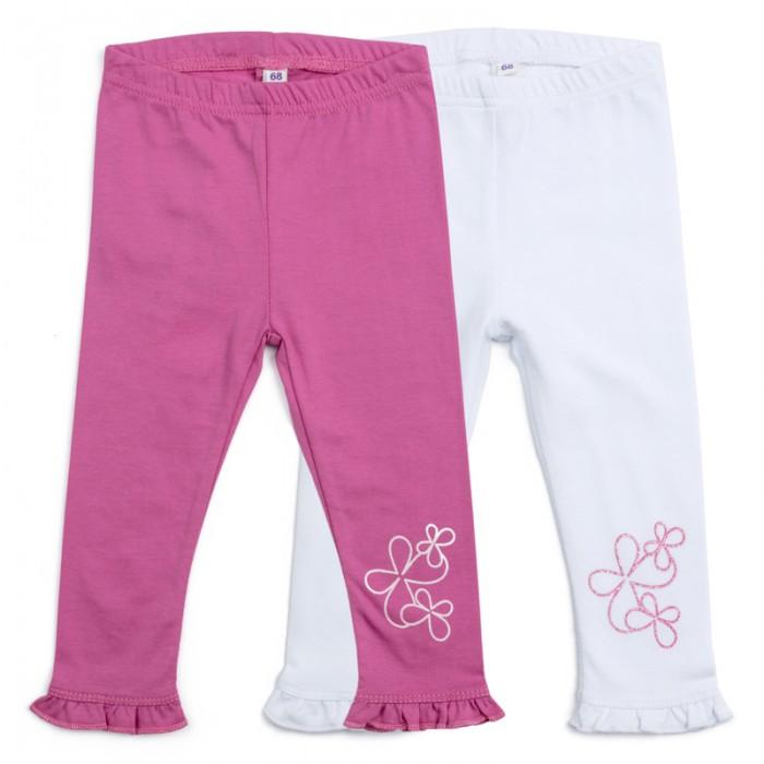 Брюки, джинсы и штанишки Playtoday Леггинсы для девочек Мой цветочек 2 шт. 188860 джинсы playtoday джинсы