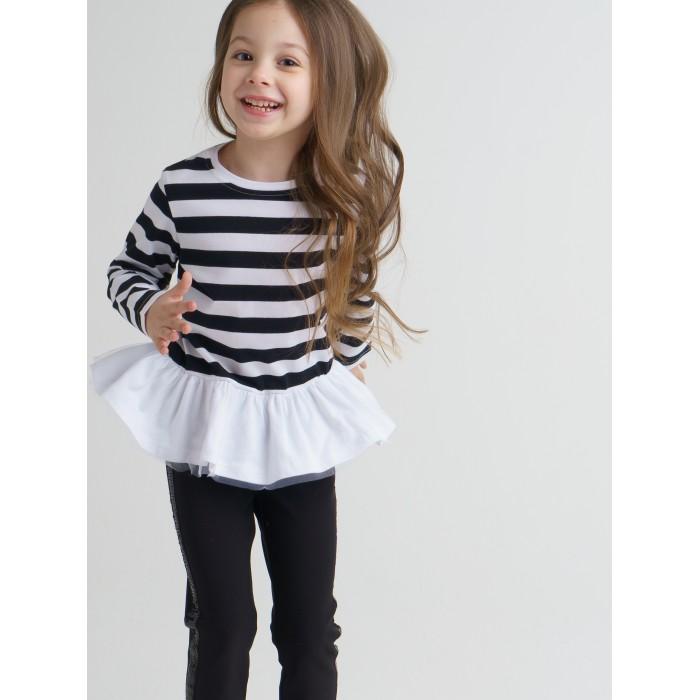 Водолазки и лонгсливы Playtoday Лонгслив для девочки Black Couture 120221024 лонгслив playtoday лонгслив