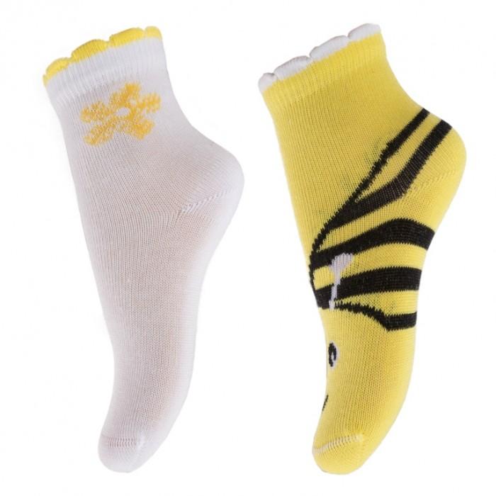 Колготки, носки, гетры Playtoday Носки для девочки Ромашковое лето 2 пары 288022 колготки носки гетры babyono носки из хлопка антискользящие smile 0 1 пара