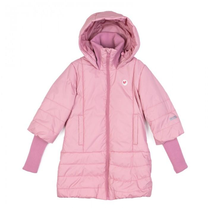 Детская одежда , Куртки, пальто, пуховики Playtoday Пальто текстильное для девочек Утро в Париже 182054 арт: 454489 -  Куртки, пальто, пуховики