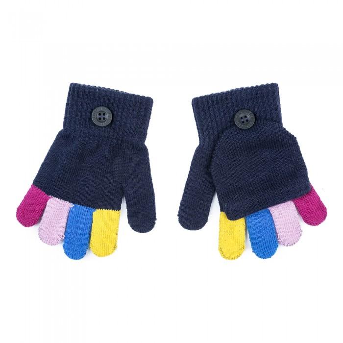 цены Варежки, перчатки и шарфы Playtoday Перчатки трикотажные для девочек Клюквенный десерт 372172 в интернет-магазинах