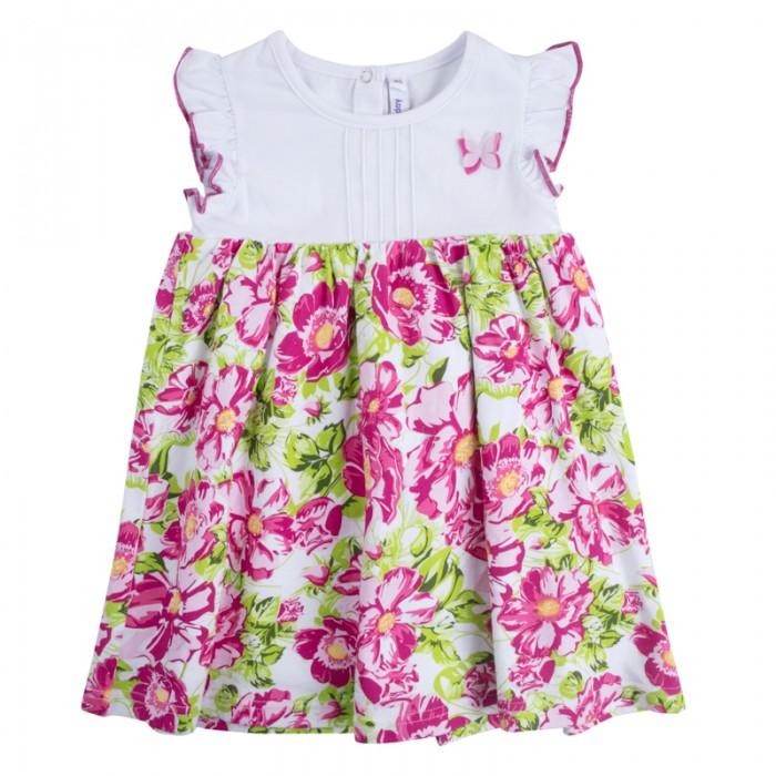 Детские платья и сарафаны Playtoday Платье детское текстильное для девочек Солнечная палитра 188072 платья trendy tummy платье