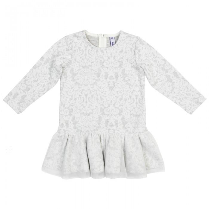 Playtoday Платье детское трикотажное для девочек Морозные кружева 378073