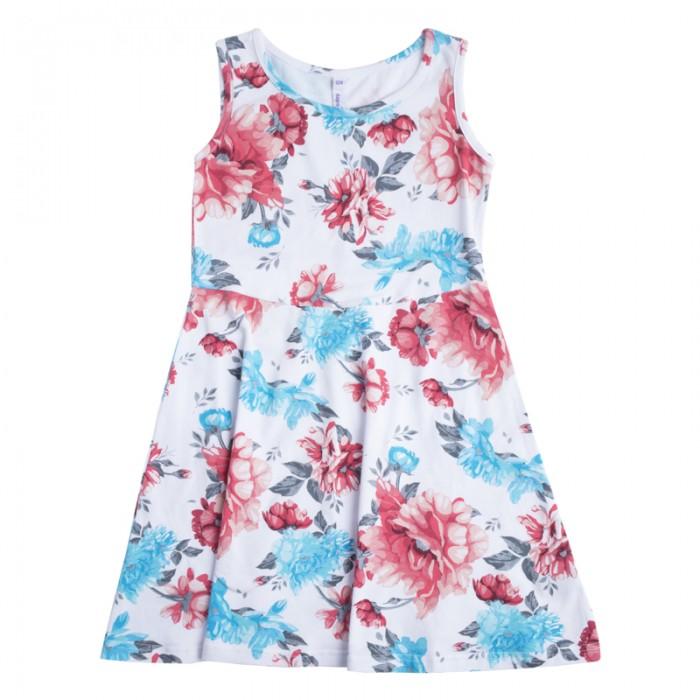 Детские платья и сарафаны Playtoday Платье для девочек Пионы 182130 одежда для детей