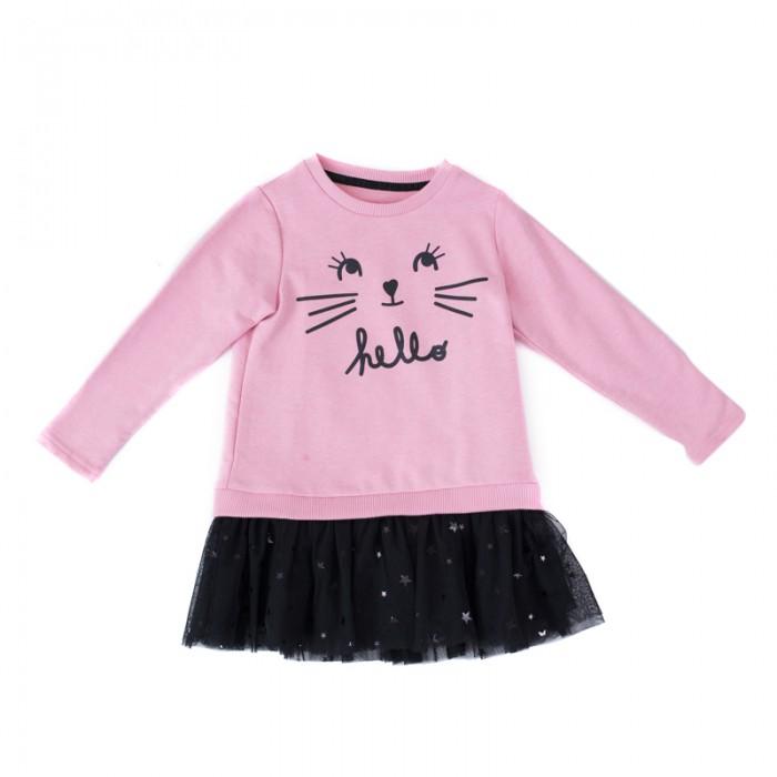 Детские платья и сарафаны Playtoday Платье для девочек Забавный кролик 188015