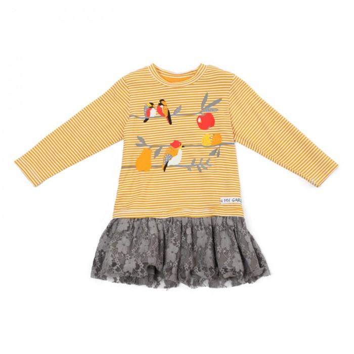 Детские платья и сарафаны Playtoday Платье для девочек Золотой сад 388029