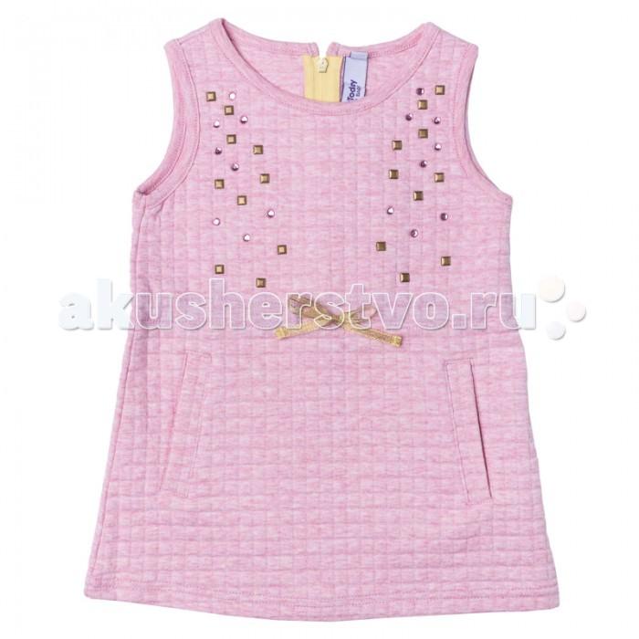 Детские платья и сарафаны Playtoday Платье для девочки Папина дочка 178014 платья playtoday платье текстильное для девочек