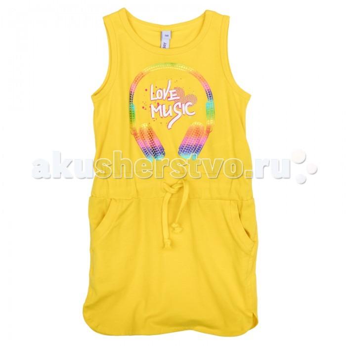 Детские платья и сарафаны Playtoday Платье для девочки Летние ноты 179004 платья playtoday платье текстильное для девочек