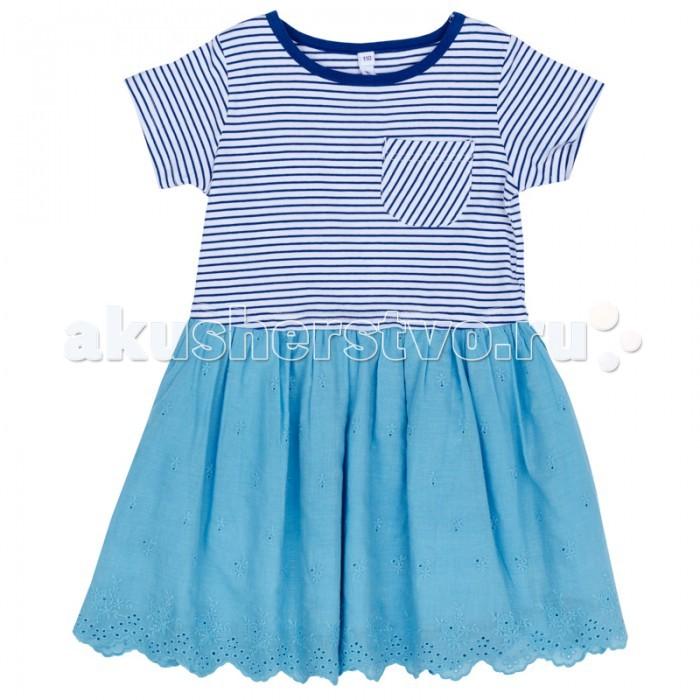 Детские платья и сарафаны Playtoday Платье для девочки Васильковое лето 172110 платья playtoday платье текстильное для девочек