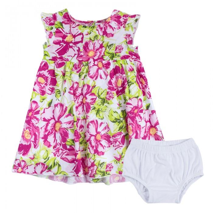 Детская одежда , Комплекты детской одежды Playtoday Платье с трусиками для девочек Мой цветочек 188864 арт: 453624 -  Комплекты детской одежды