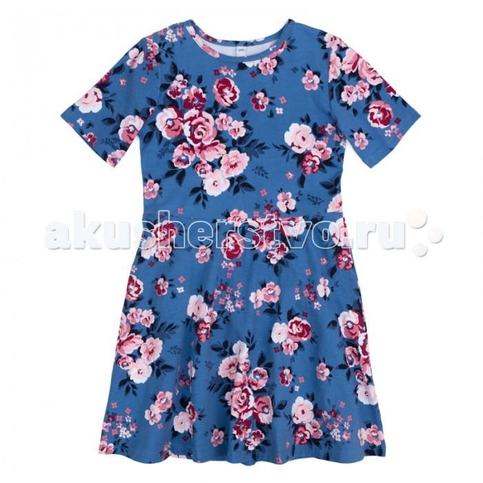 Детские платья и сарафаны Playtoday Платье трикотажное для девочек Утро в Париже 182074 платья для девочек платья для девочек