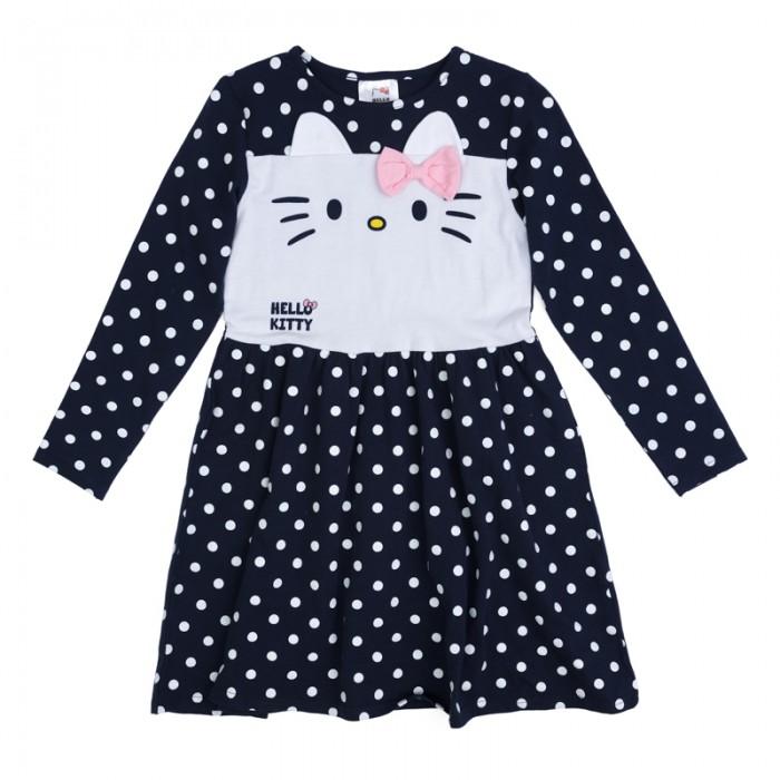 Детские платья и сарафаны Playtoday Платье трикотажное для девочек Утро в Париже 682053