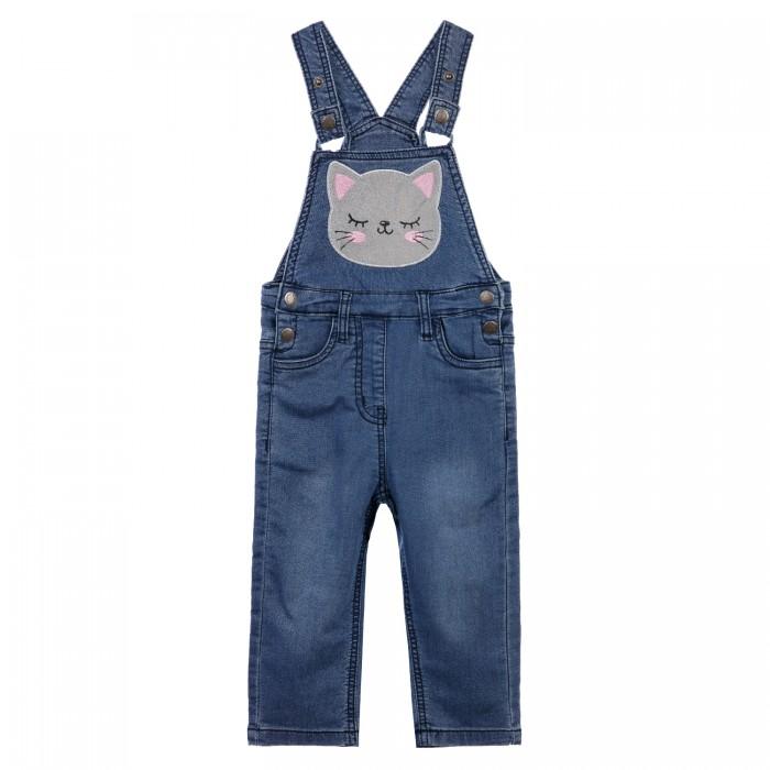 Брюки и джинсы Playtoday Полукомбинезон детский текстильный джинсовый для девочек 32123043