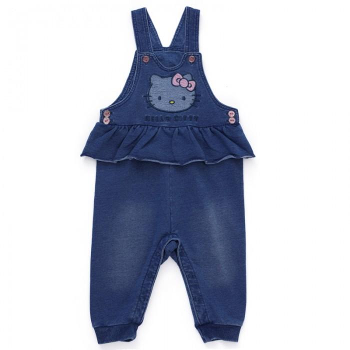 Брюки, джинсы и штанишки Playtoday Полукомбинезон детский трикотажный для девочек Флоранс 688807