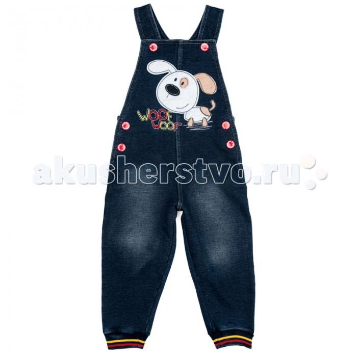 Брюки, джинсы и штанишки Playtoday Полукомбинезон детский трикотажный для мальчиков Первый друг 377057