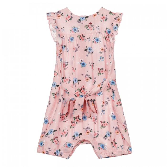 Боди, песочники, комбинезоны Playtoday Полукомбинезон текстильный для девочек 12123323 брюки и джинсы playtoday полукомбинезон текстильный для девочек солнечная палитра 188070