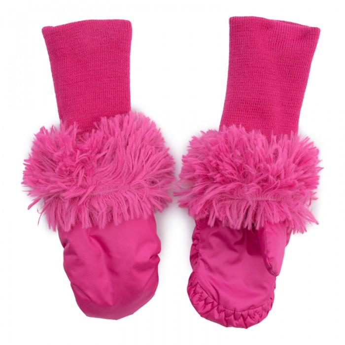 Варежки, перчатки и шарфы Playtoday Рукавицы текстильные для девочек Клюквенный десерт 372177