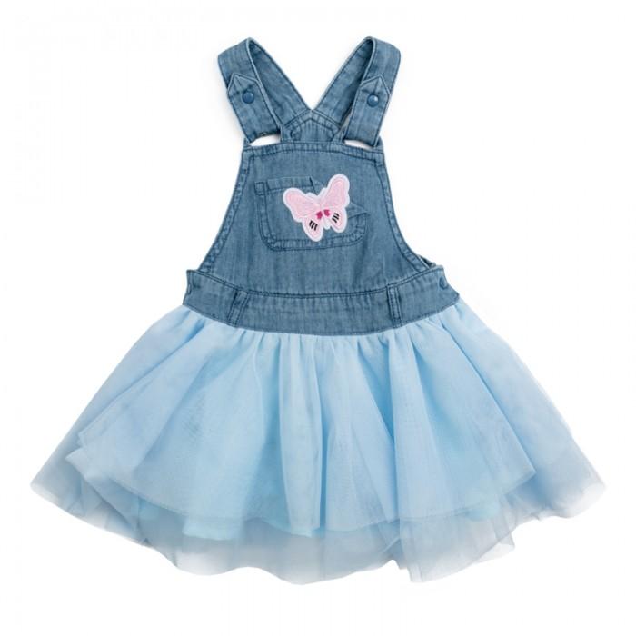 Детские платья и сарафаны Playtoday Сарафан детский текстильный для девочек Солнечная палитра 188054 платья для девочек платья для девочек
