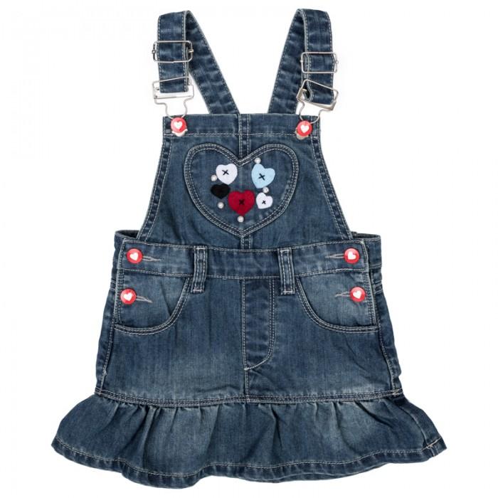 Купить Платья и сарафаны, Playtoday Сарафан детский текстильный джинсовый для девочек Лучшие друзья 378014