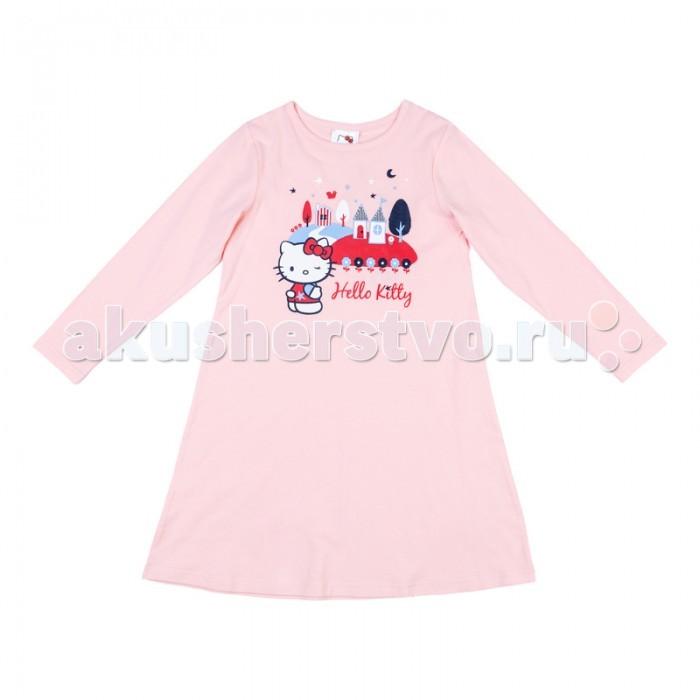Пижамы и ночные сорочки Playtoday Сорочка ночная трикотажная для девочек Волшебная страна 576003 платья playtoday платье текстильное для девочек