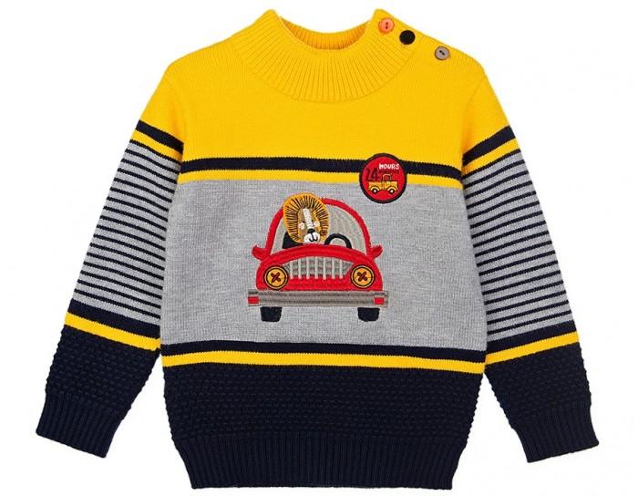 Картинка для Джемперы и кардиганы Playtoday Свитер для мальчика Car collection baby boys