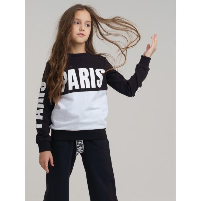 Толстовки и свитшоты Playtoday Свитшот для девочки Black Couture 120121015 свитшот playtoday playtoday mp002xg00pvv