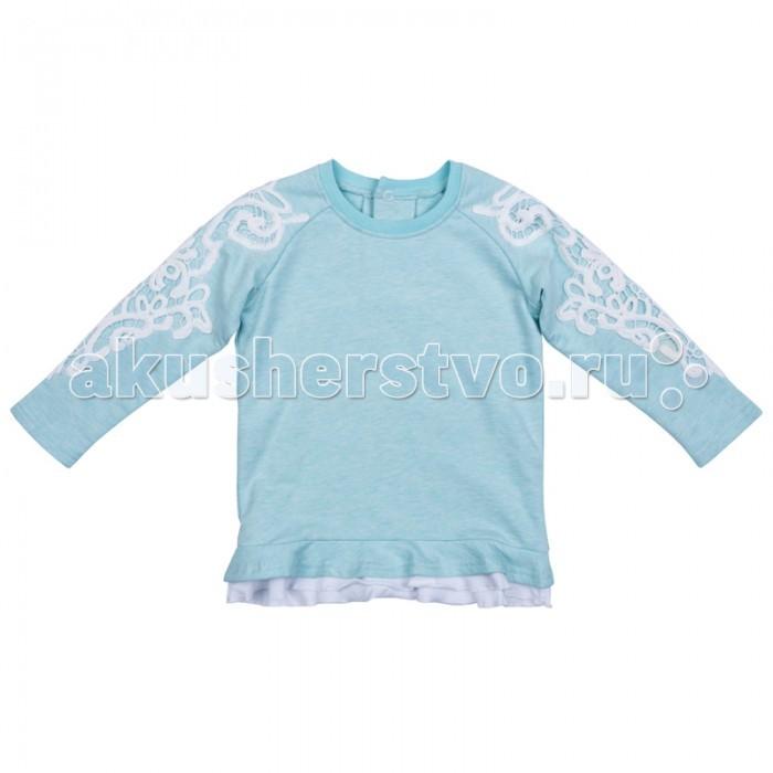 Толстовки, свитшоты, худи Playtoday Толстовка детская трикотажная для девочек Морозные кружева 378061