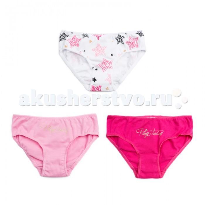 Детское белье Playtoday Трусы трикотажные для девочек 3 шт. Розовая дымка 186004 трусы lowry трусы 3 шт