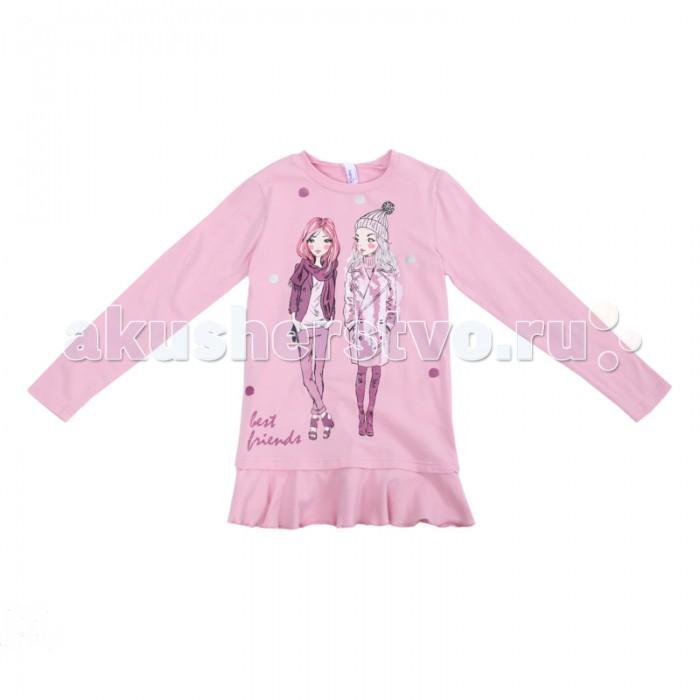 Водолазки и лонгсливы Playtoday Туника для девочек Холодное Сияние 382023 одежда для детей