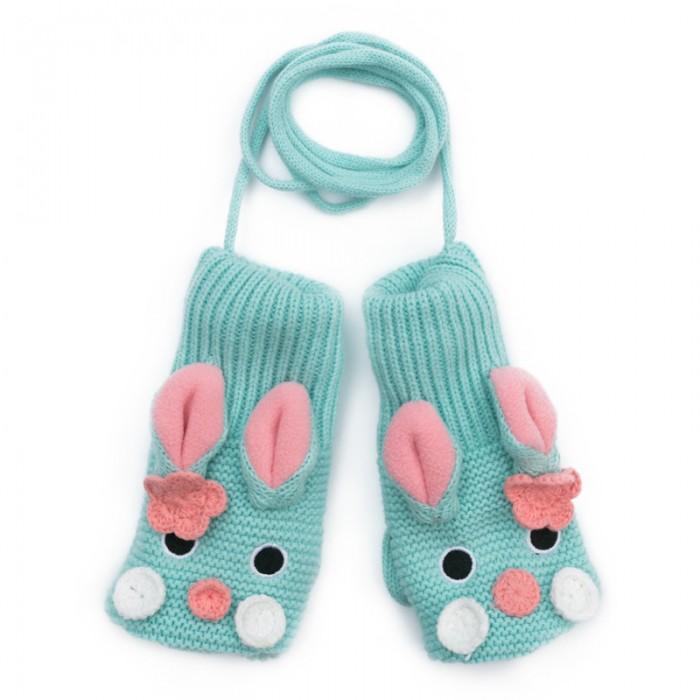 Варежки, перчатки и шарфы Playtoday Варежки детские трикотажные для девочек Морозные кружева 378080 варежки  перчатки и шарфы jollein шарф confetti knit